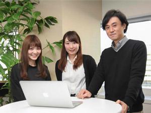 Webディレクター・デザイナーは、20〜30代のメンバーが中心。チームワークを重視しています。