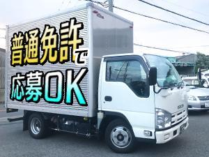 写真は2tトラック!ワゴン車ほどの小回りが効くサイズなので、 未経験の方も、すぐに慣れて頂けますよ◎