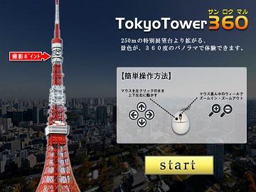当社の『360度 パノラマ 3DPVR』が東京タワーで導入!