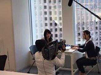 働く女性を応援する企業として、取材されました! 女性役職者も多数在籍。