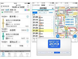 乗換ナビタイムはApp storeの2013年 ベストアプリに選出されました!