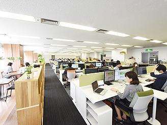 名古屋本社は改装して100平方m以上のワンフロアとなりました