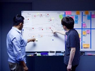 各チームともすべてアジャイル方式で開発しており、かんばん方式で実施。