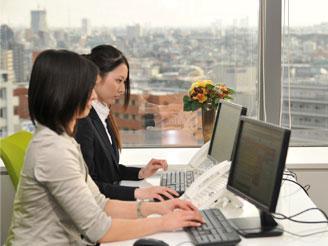 綺麗なオフィスです★見晴らしも良くて天気のいい日は富士山を見ることもできます