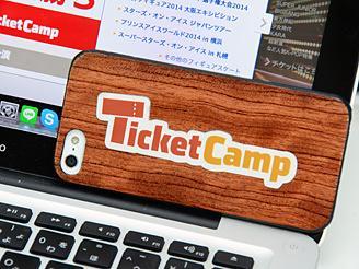 「チケットキャンプ」のロゴマーク。このロゴが、世の中に浸透しますように。