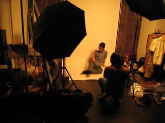 撮影も自社で行っています。ネットショップ運営全体の雰囲気を体験していただけます。