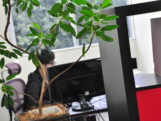 恵比寿駅から徒歩4分の場所にあるオフィスは、広々として心地良い空間です。