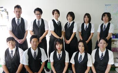 各営業所で若手~ベテランまで、男女様々なスタッフが活躍しています。