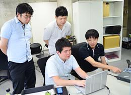 勉強会は月1・2回開催!違う現場で働く社員同士の情報共有・交流の場にもなっています。