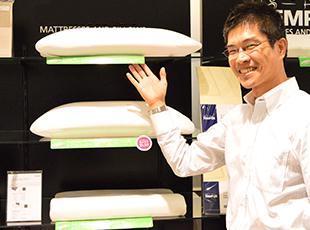 寝具アクセサリーも豊富に用意しているので、寝具関係のトータルで提案することが可能です。