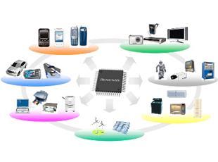 「自動車」「産業・家電」「OA・ICT」といった成長分野を中心に、製品開発や研究開発を進めています。