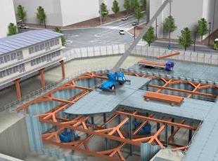 本設工事にとって重要な足場や事務所などを作る仮設工事を主として請け負っています。