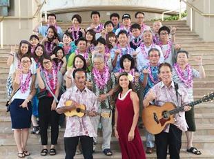 ハワイへの社員旅行の様子。コーディネーター職では平均年齢が若く、活気ある雰囲気です。