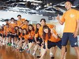 「運動が好き!」「人に教えることが好き!」という社員が活躍中。明るい雰囲気が特徴です!