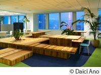 虎ノ門ヒルズの新オフィスには、東京の街並みを見下ろせる、ミーティングスペースも新設。