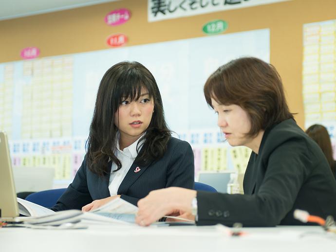 若手からベテランまで、幅広い女性職員が活躍している環境です。