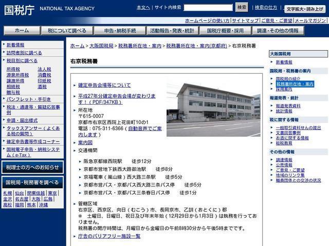 国税庁右京税務署